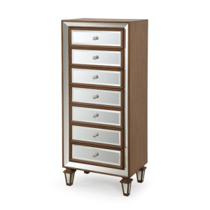 7 Drawer Mirrored Accent Chest