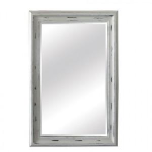 Antique Broken White Framed Mirror