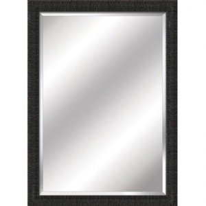 Charcoal frame highly textured with fragmented lin