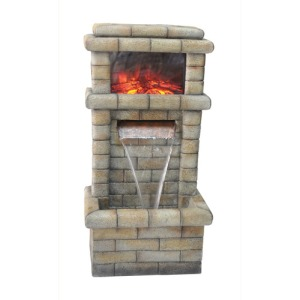 32 inch height Fountain with fireplace on display