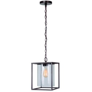 1 Light Pendant in Brown Finish