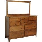 """Jamestown Square 62"""" High Dresser & Mirror"""