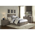 Panel Bed with Footboard Drawers - Queen