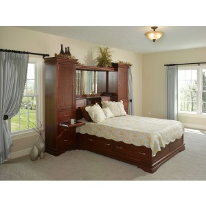 Legacy King Bookcase Bed Deluxe