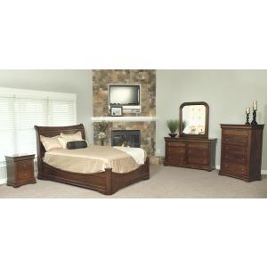 Bordeaux Twin Sleigh Bedroom Set