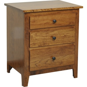 Jamestown Square 3 Drawer Nightstand 24""