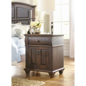 1 Drawer, 2 Door Nightstand