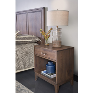 Champagne 1 Drawer Nightstand