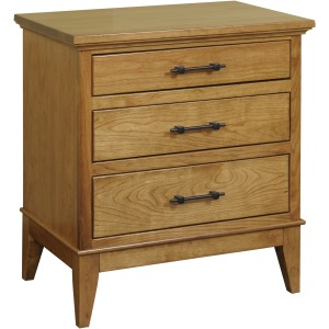 Cortland Three Drawer Nightstand