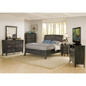 Bedroom Suite Charcoal Maple