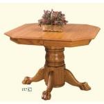 Clipped Corner Single Pedestal Table