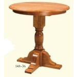 Pub Style Single Pedestal Table