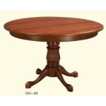 Reeded Single Pedestal Table