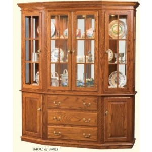 Canted-front China Cabinet