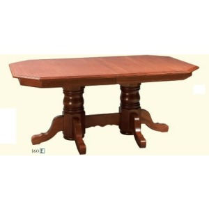 Clipped Corner Double Pedestal Table