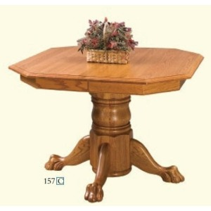 Clipped Corner Single Pedestal Table