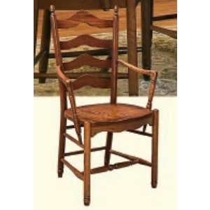 Deluxe Ladderback Arm Chair (Wood Seat)