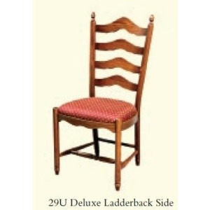 Deluxe Ladderback Side Chair (Upholstered Seat)