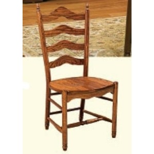 Deluxe Ladderback Side Chair (Wood Seat)