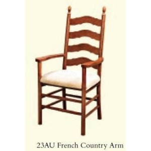 French Country Arm Chair (Upholstered Seat)