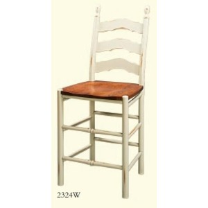 French Country Nonswivel Barstool (Wood Seat)