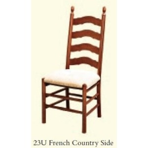 French Country Side Chair (Upholstered Seat)