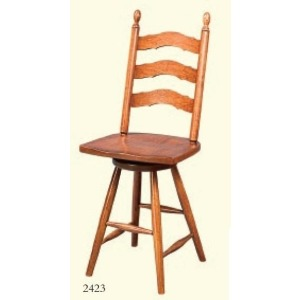 French Country Swivel Stool