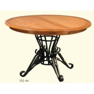 Iron Pedestal Table