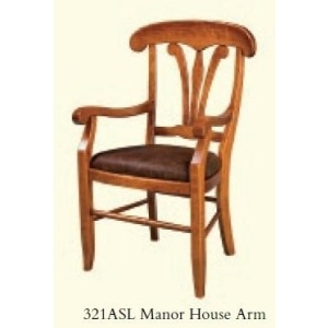 Manor House Arm Chair (Leather Seat)