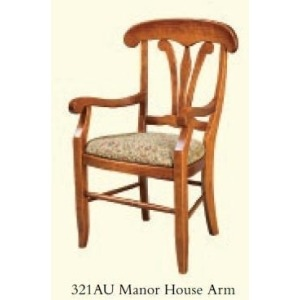 Manor House Arm Chair (Upholstered Seat)