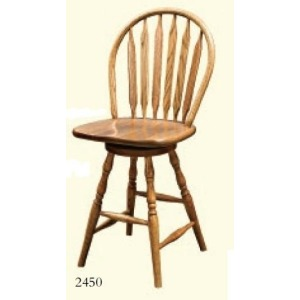 Paddleback Windsor Swivel Barstool