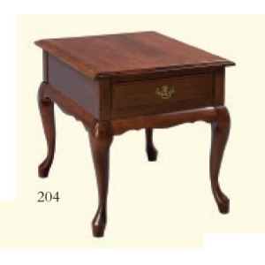Queen Anne Rectangle End Table