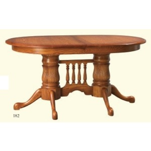 Reeded Double Pedestal Table