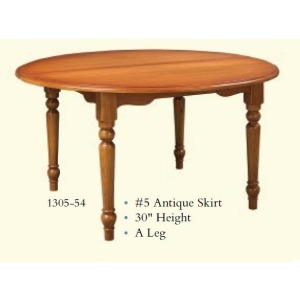 Round Antique Extension Table