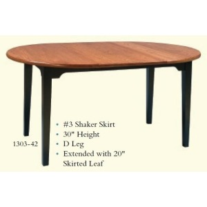 Round Shaker Extension Table