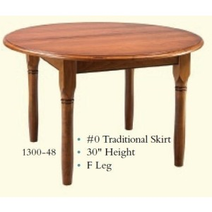 Round Traditional Extension Table