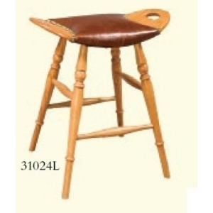 Saddle Leather Seat Stool