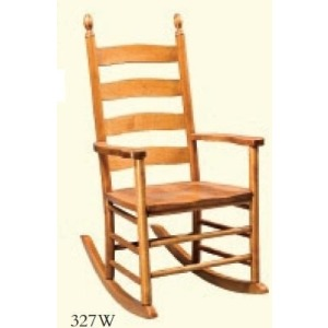 Shaker Ladderback Runner Rocker (Wood Seat)