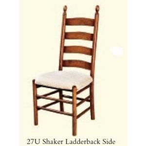 Shaker Ladderback Side Chair (Upholstered Seat)