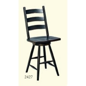 Shaker Ladderback Swivel Stool