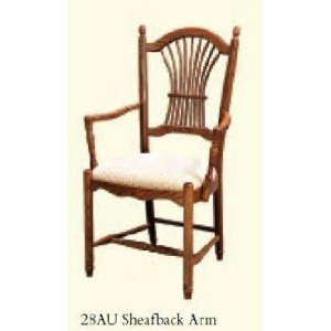 Sheafback Arm Chair (Upholstered Seat)