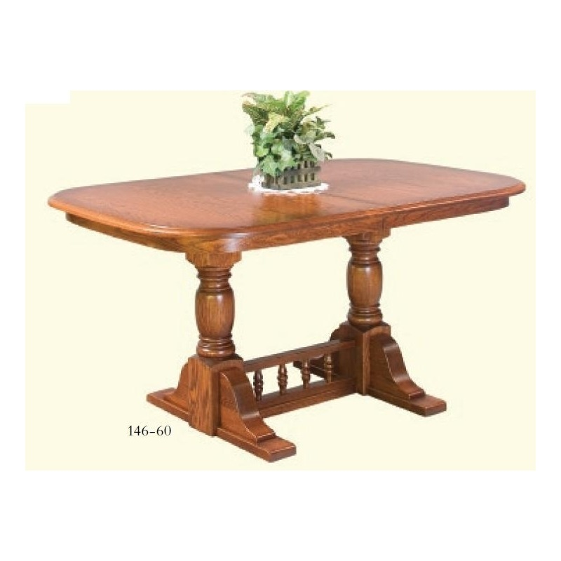 Innkeepers Double Pedestal Table