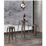 OLYMPIA BAR TABLE GUNMETAL