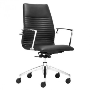 LION LOW BACK OFFICE CHAIR BLACK