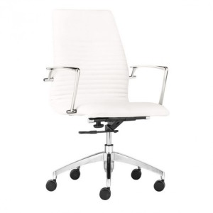 LION LOW BACK OFFICE CHAIR WHITE