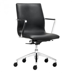 HERALD LOW BACK OFFICE CHAIR BLACK