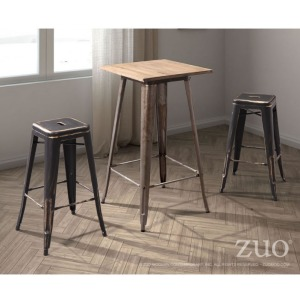 MARIUS BARSTOOL ANTIQUE BLACK GOLD